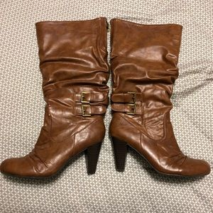 Guess Brown Heeled Boots
